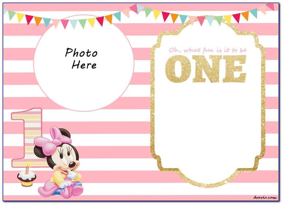 Printable 1st Birthday Invitation Templates