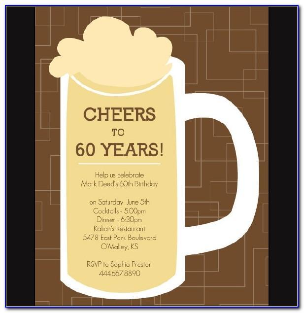 Printable 60th Birthday Invitations Templates