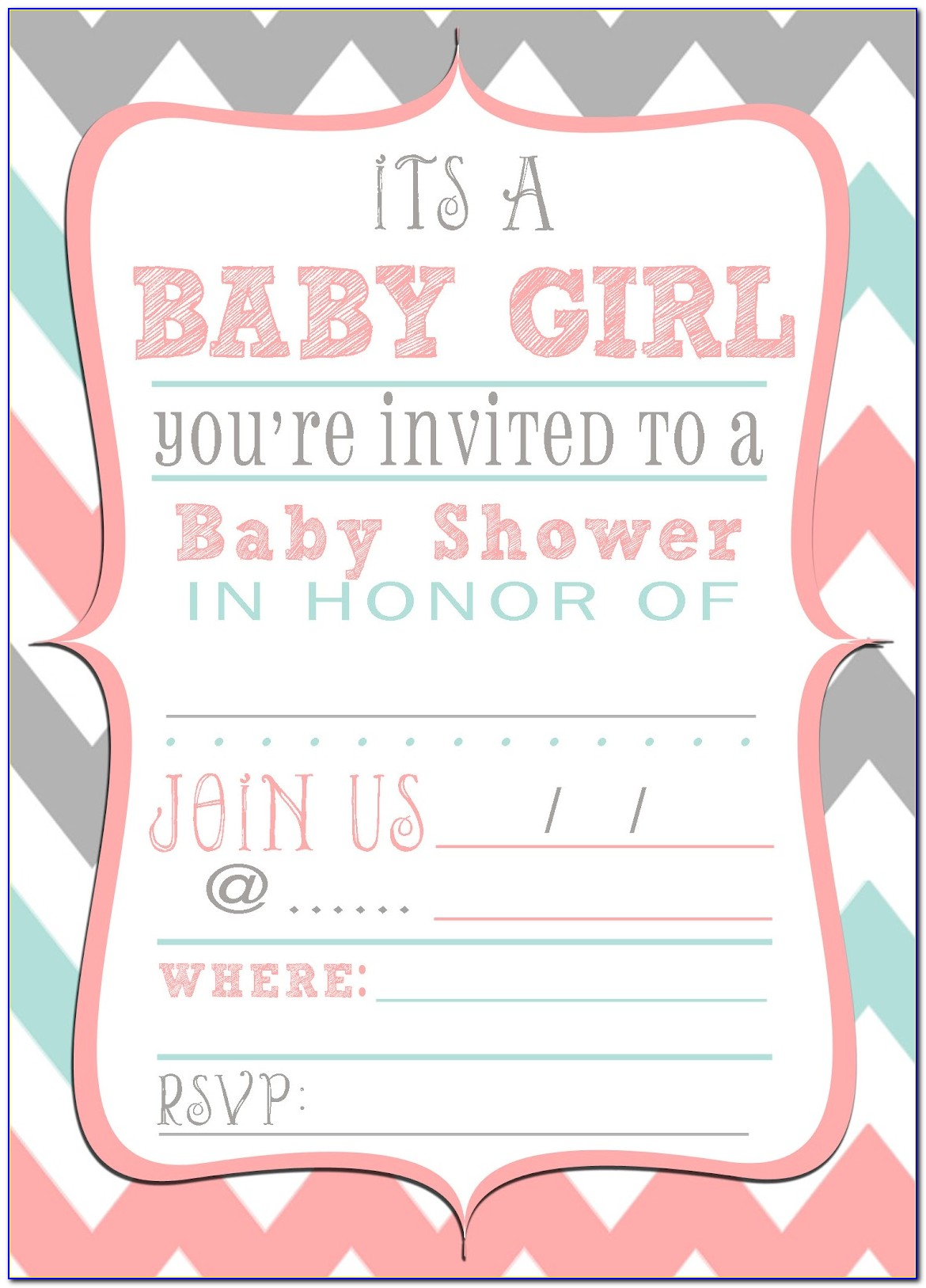 Printable Birth Announcements Templates