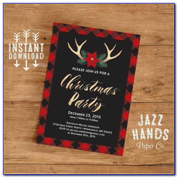 Printable Christmas Invitation Templates