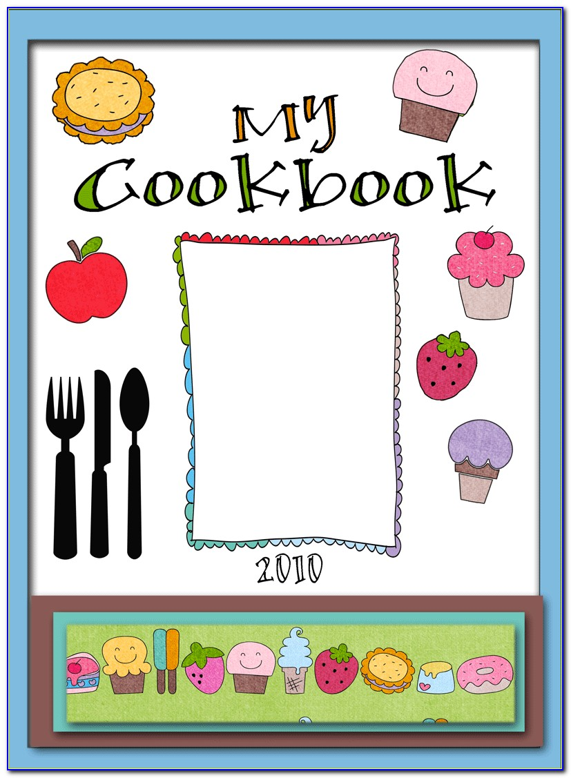 Printable Cookbook Cover Template