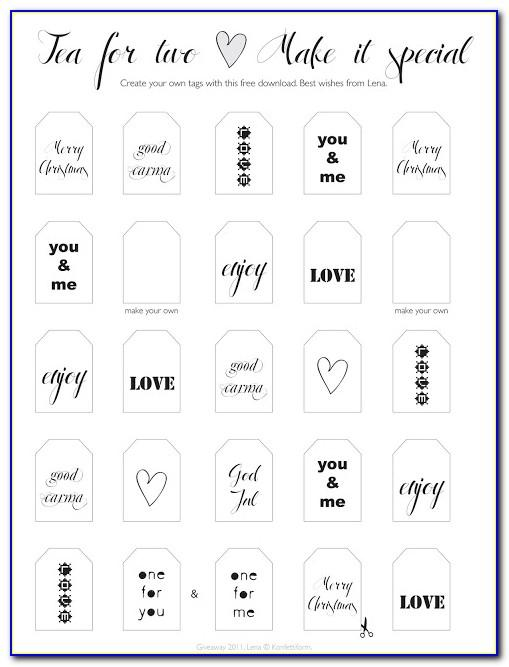 Printable Gift Bag Tag Template