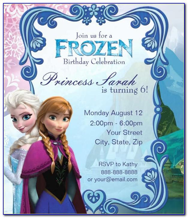Printable Invitation Templates Frozen