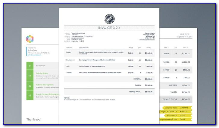 Printable Invoice Template Html