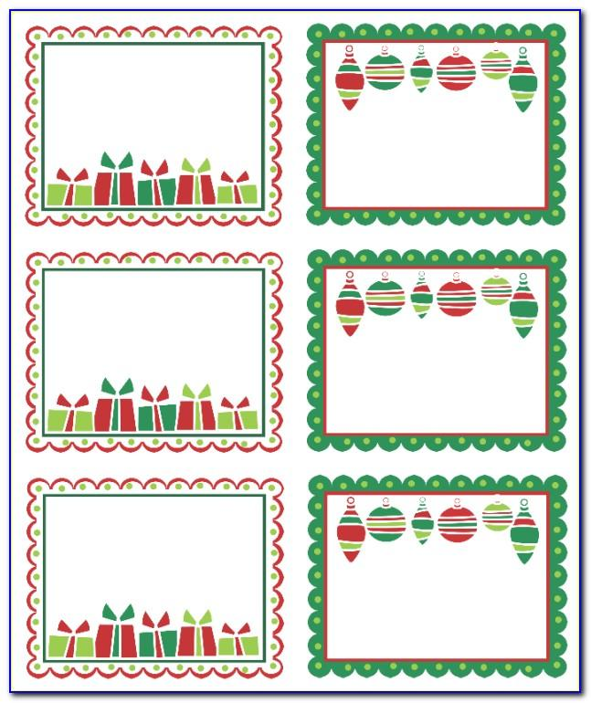 Printable Label Templates Christmas