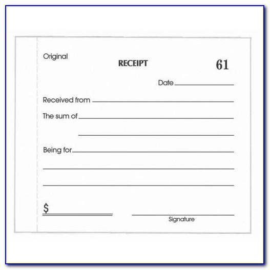 Printable Petty Cash Receipt Template