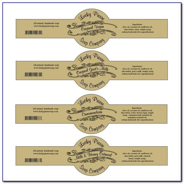 Printable Soap Label Templates