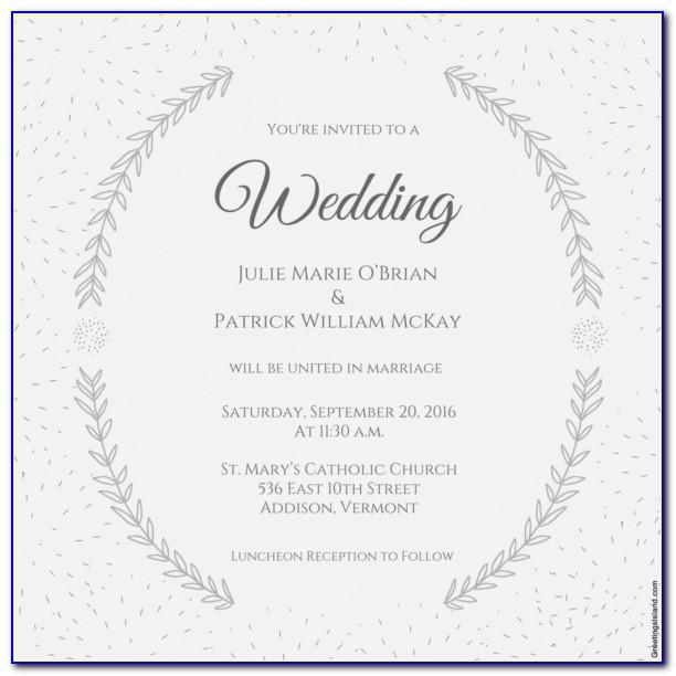 Printable Wedding Announcement Templates