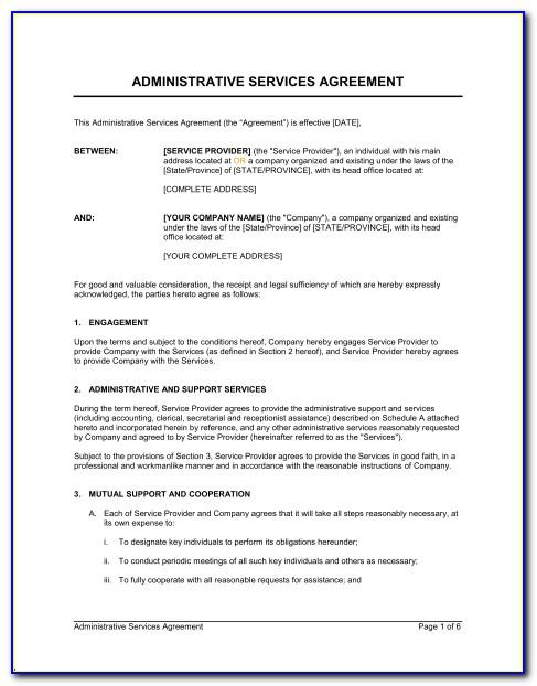 Printing Service Contract Template