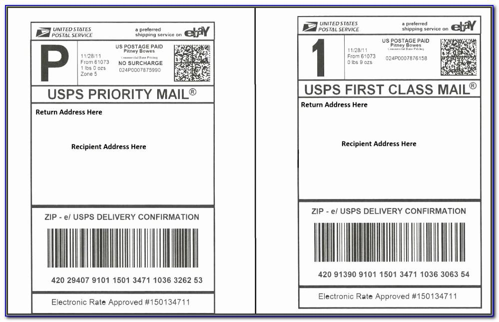 Priority Mail Label 228 Word Template