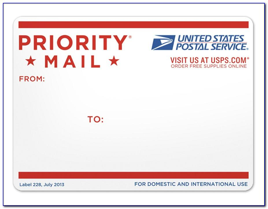 Priority Mail Label Printing Template