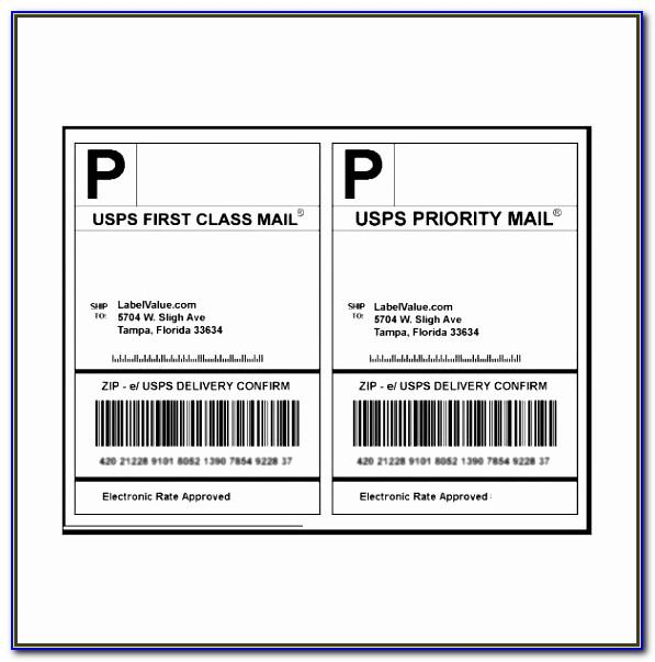 Priority Mail Label Templateword