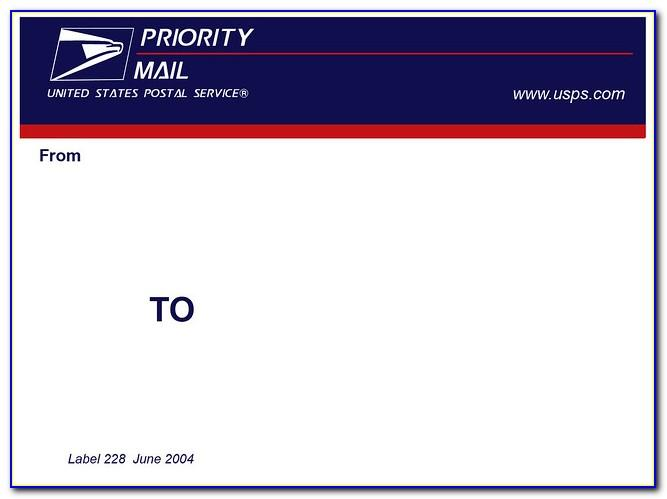 Priority Mail Shipping Label Template