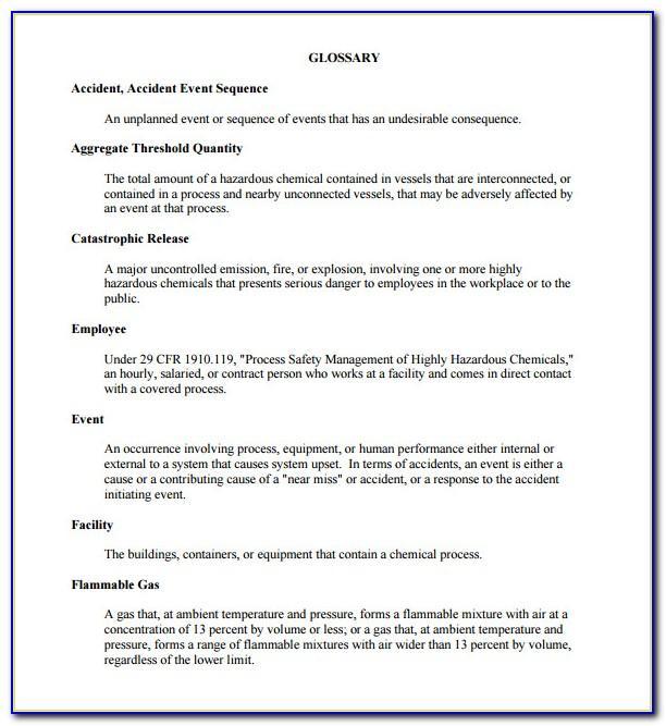 Process Hazard Analysis Form
