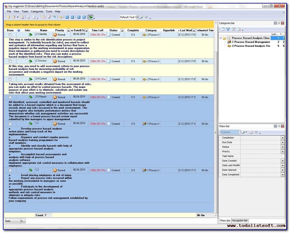 Process Hazard Analysis Report Example