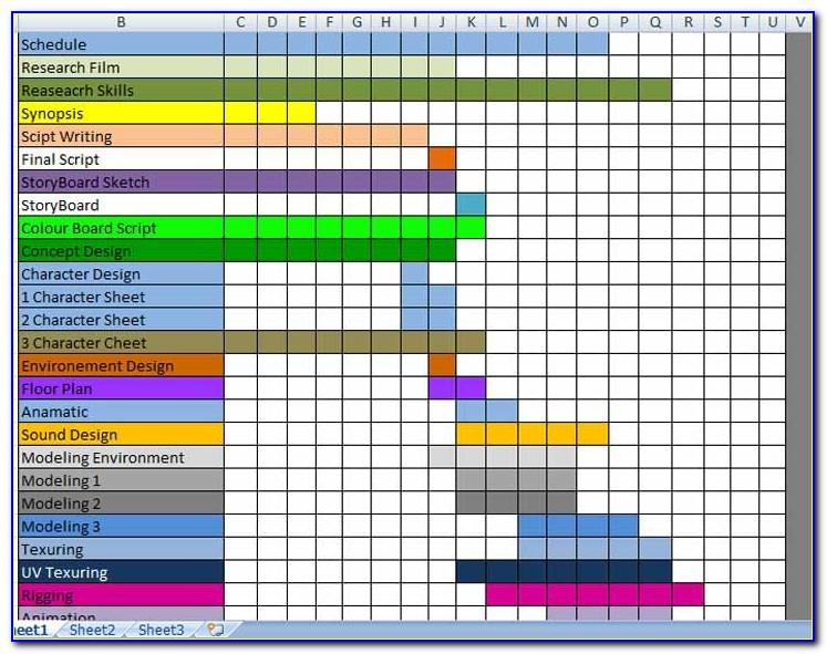 Production Planning And Scheduling Excel Template