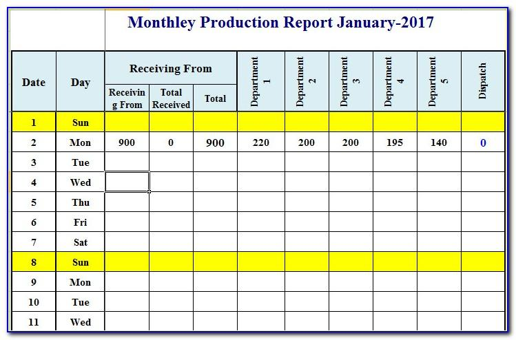 Production Schedule Film Template Excel