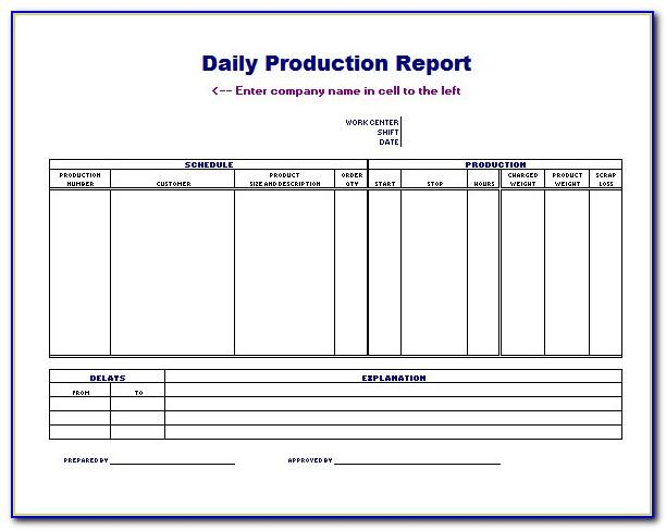 Production Scheduling Excel Templates