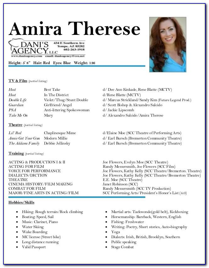 Professional Actor Resume Template