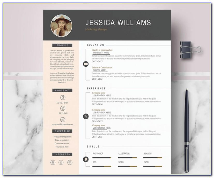 Professional Cv Template Word With Photo Free Download