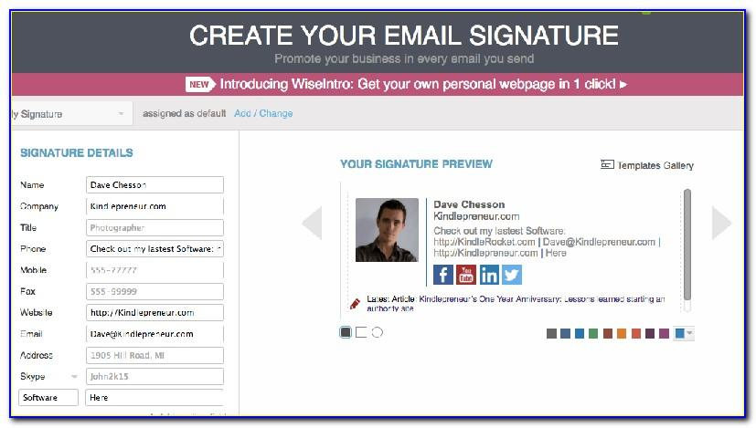 Professional Email Signature Examples Outlook