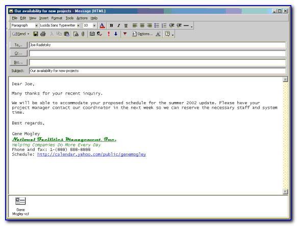 Professional Email Signature Format