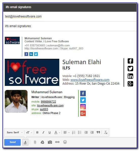 Professional Email Signature Generator Free