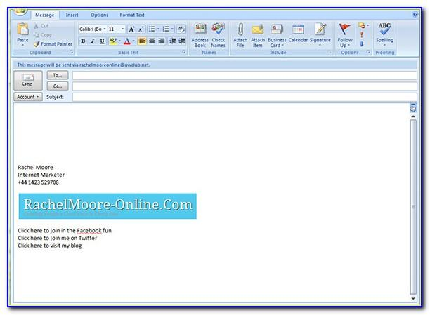 Professional Email Signature Templates For Outlook