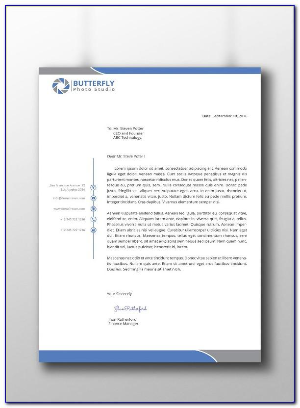 Professional Letterhead Template For Word