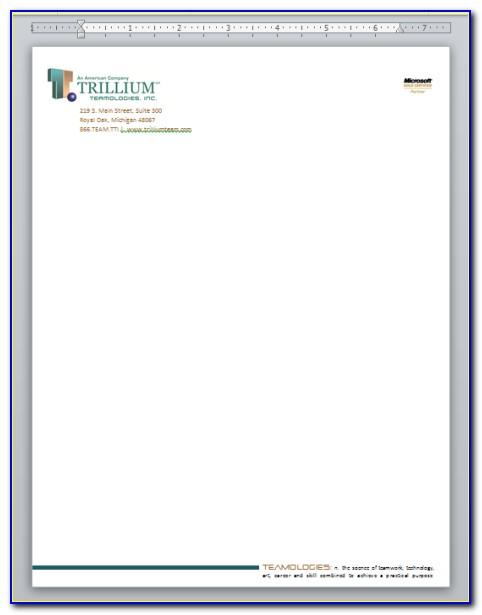 Professional Letterhead Templates For Word