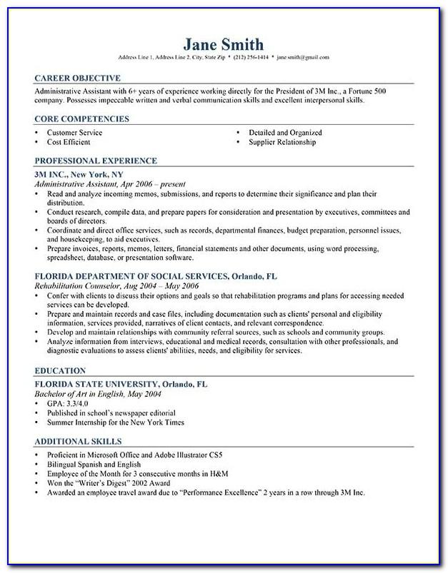 Professional Resume Template Pdf
