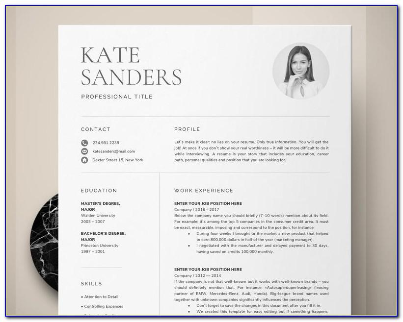Professional Resume Template Word 2016