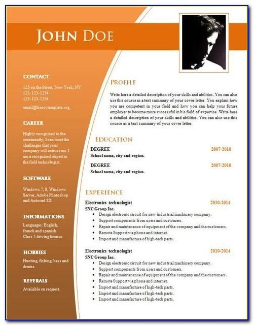 Professional Resume Template Word Doc