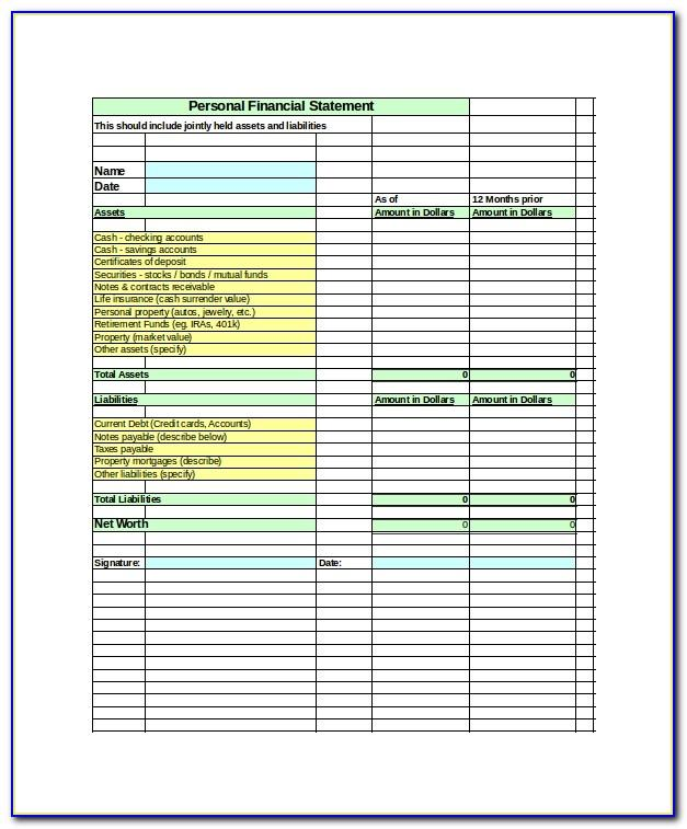 Profit And Loss Account Format Excel Template