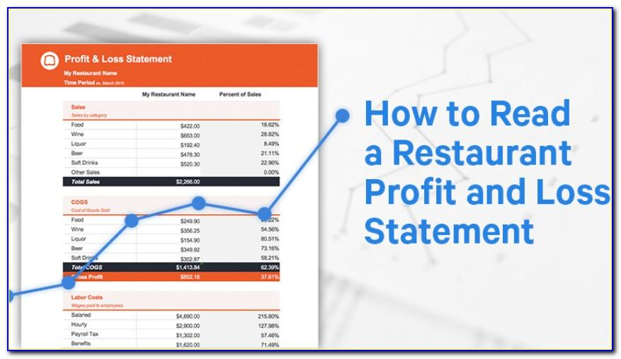 Profit And Loss Statement Templates Free