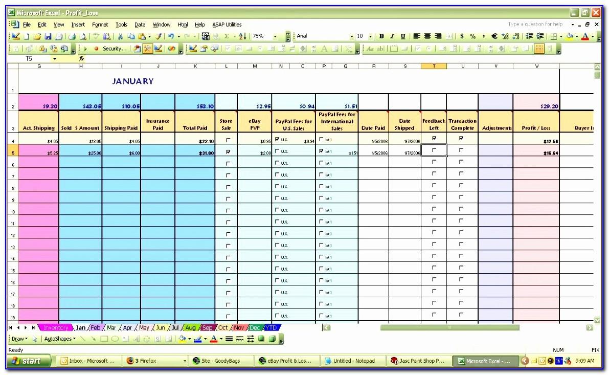 Profit Loss Statement Excel Template