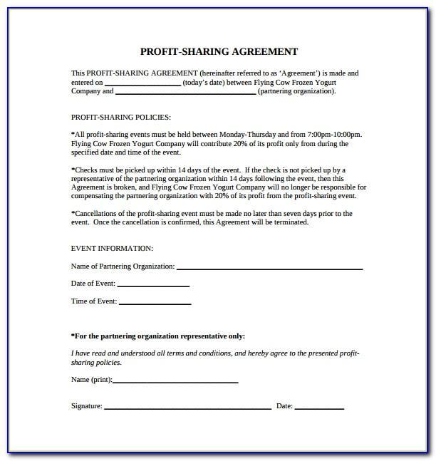 Profit Sharing Agreement Template Uk