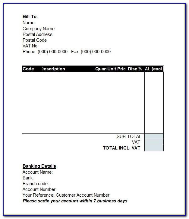 Proforma Invoice Template Microsoft Word