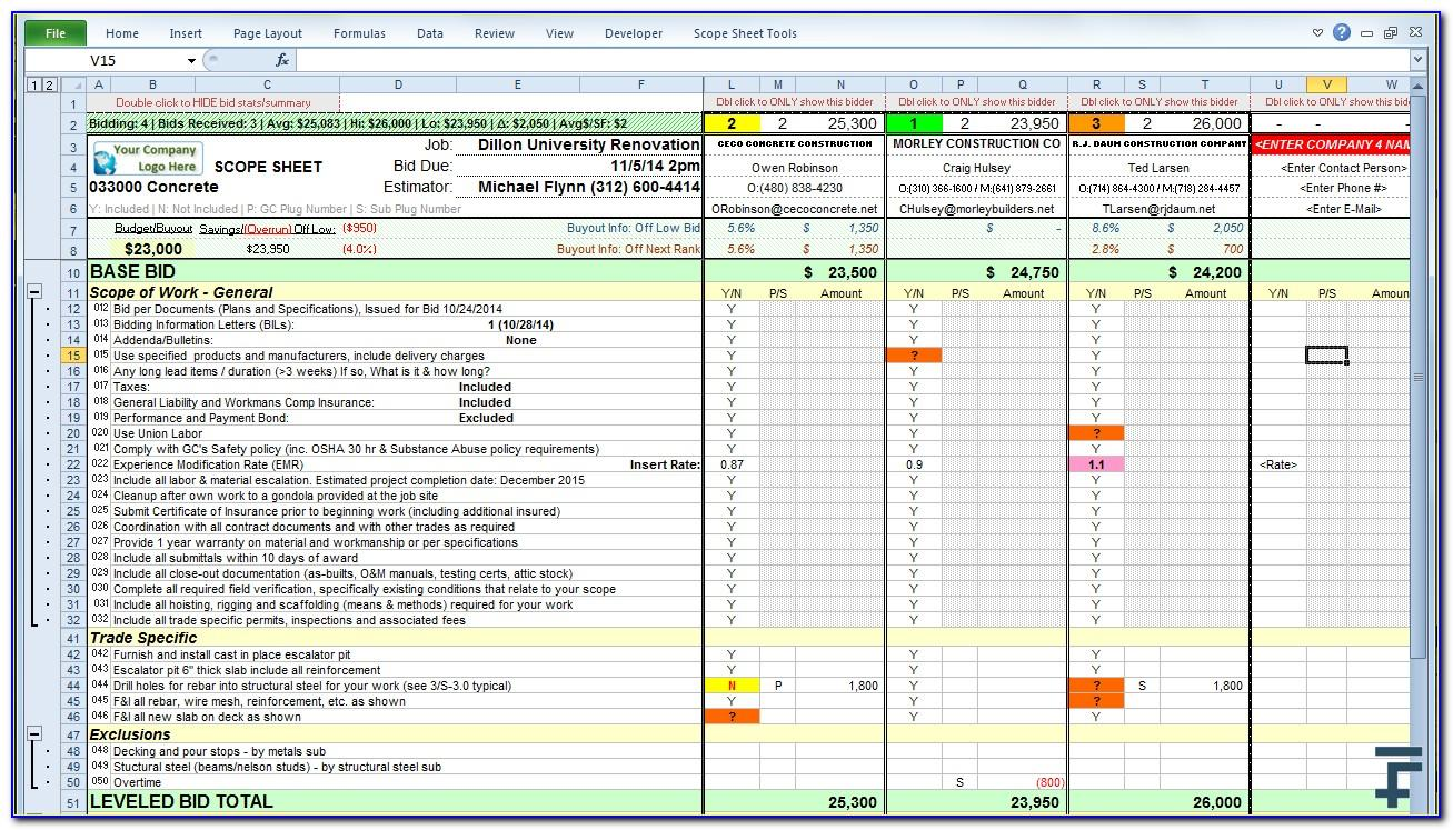 Project Bid Proposal Sample