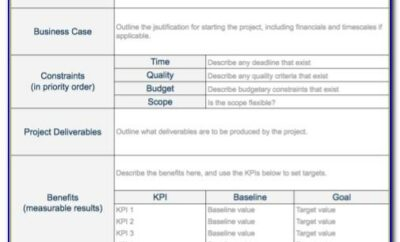 Project Charter Samples Free