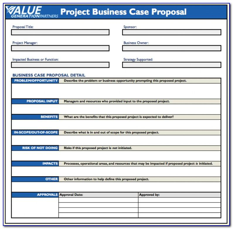 Project Charter Template Excel Free Download