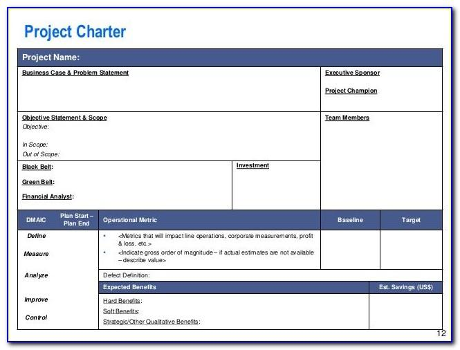 Project Charter Template Free Download