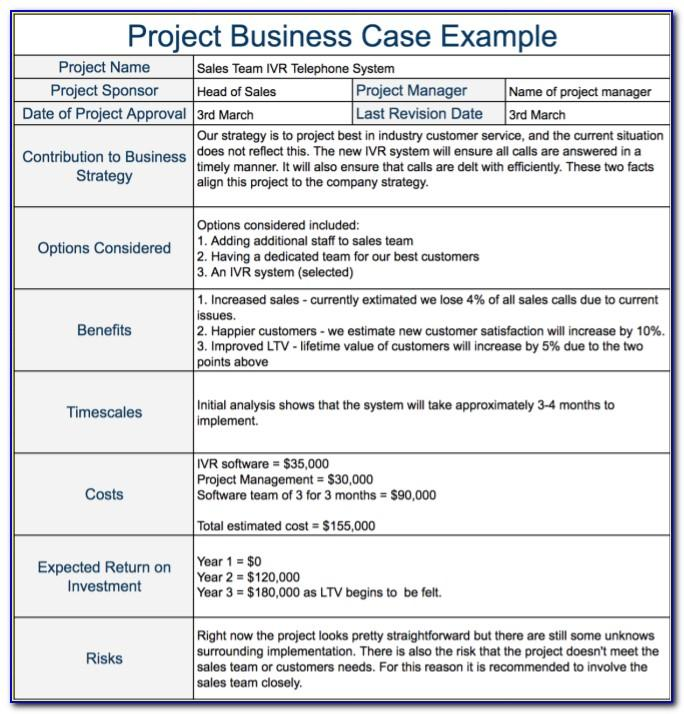 Project Charter Template Free Word