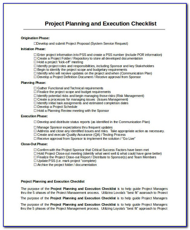 Project Gantt Chart Template Download