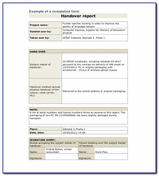 Project Handover Document Doc