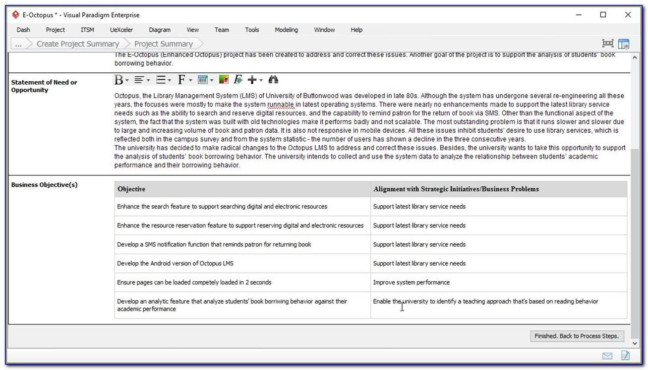 Project Management Bid Template