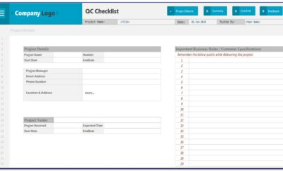 Project Management Checklist Example
