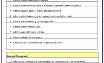 Project Management Closing Checklist Example