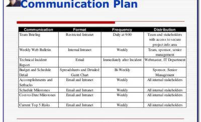 Project Management Communication Plans Examples