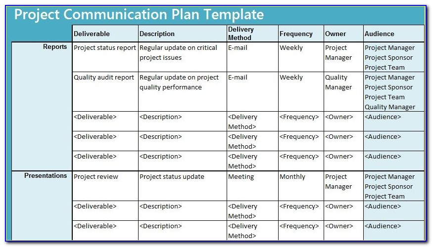 Project Management Communications Plan Sample